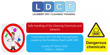 LDCT - Safe Handling of Dry Cleaning Chemicals and Solvents