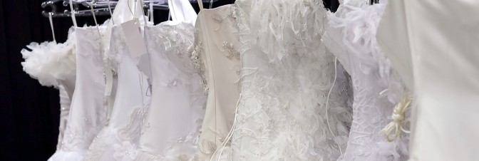 Dry cleaning dresses